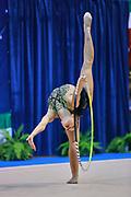 Alice Betti atleta della società La Fenice di Spoleto durante la seconda prova del Campionato Italiano di Ginnastica Ritmica.<br /> La gara si è svolta a Desio il 31 ottobre 2015.