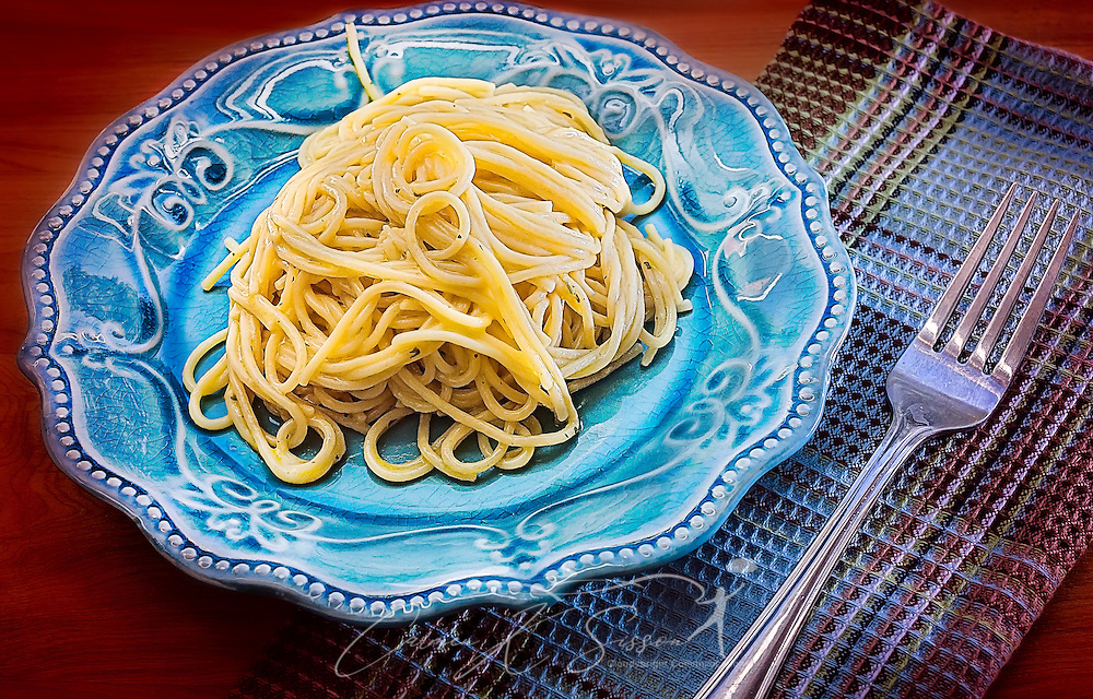 Pasta vermicelli, with garlic and olive oil, is served, January 19, 2016, in Coden, Alabama. Vermicelli