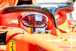 February 18, 2019 - Barcelona, Spain - Sebastian Vettel of Scuderia Ferrari during the afternoon session of the first day of F1 Test Days in Montmelo circuit, Spain, on February 18, 2019  (Credit Image: © Javier MartíNez De La Puente/NurPhoto via ZUMA Press)