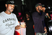 Filtra D and Scruffizer performing on stage. UK Grime music. Brighton 2014