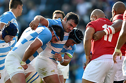 The Argentina front row pack down for a scrum - Mandatory byline: Patrick Khachfe/JMP - 07966 386802 - 04/10/2015 - RUGBY UNION - Leicester City Stadium - Leicester, England - Argentina v Tonga - Rugby World Cup 2015 Pool C.