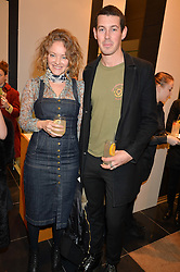 JOSEPH TURNBULL and SUSSY CAZALET at a party to celebrate the launch of Olivia von Halle, 151 Sloane Street, London on 25thNovember 2015