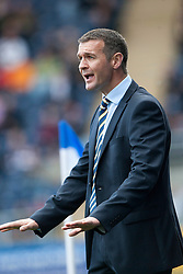 Queen of the South's manager Jim McIntyre.<br /> Falkirk 2 v 1 Queen of the South, Scottish Championship 5/10/2013, played at The Falkirk Stadium.<br /> &copy;Michael Schofield.