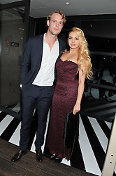 JACK FOX and ZARA MARTIN at the InStyle Best of British Talent Event in association with Lancôme and Avenue 32 held at The Rooftop Restaurant, Shoreditch House, Ebor Street, London E1 on 30th January 2013.