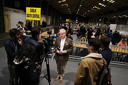 Executive Director of Amnesty International Ireland Colm O'Gorman speaking to the media before the start of the count at Dublin's RDS in the referendum on the 8th Amendment of the Irish Constitution which prohibits abortions unless a mother's life is in danger.