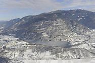 Lago di Caldonazzo e di Levico Terme e Panarotta innevate, 14 febbraio 2013 © foto Daniele Mosna