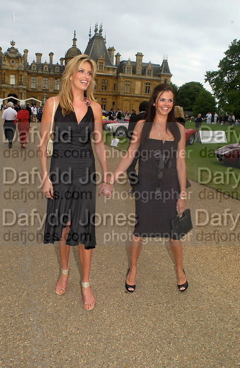 Penny Lancaster and Claudia Burgh Leather, Louis Vuitton classic and celebration of their 150 anniversary. Waddesdon Manor, June 4 2004. ONE TIME USE ONLY - DO NOT ARCHIVE  © Copyright Photograph by Dafydd Jones 66 Stockwell Park Rd. London SW9 0DA Tel 020 7733 0108 www.dafjones.com