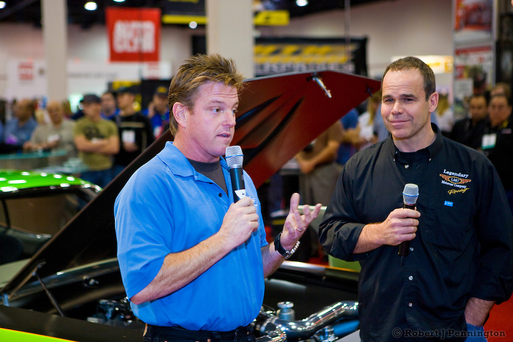 Chip Foose and Peter Klutt at the Super Cuda unveil