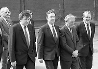 Fianna Fail Leader Charles Haughey, Brian Lenihan Snr and Bertie Ahern at the 1916 Commemoration Ceremony at Arbour Hill, 07/05/1986 (Part of the Independent Newspapers Ireland/NLI Collection).