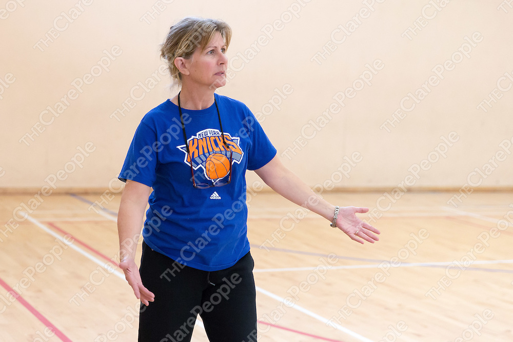 Maureen Murphy shows her frustration with her team Clarecastle Comets on the sideline