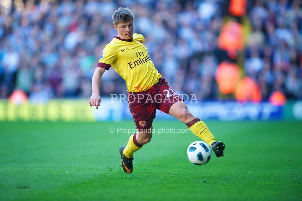 WEST BROMWICH, ENGLAND - Saturday, March 19, 2011: Arsenal's Andrei Arshavin in action against West Bromwich Albion during the Premiership match at the Hawthorns. (Photo by David Rawcliffe/Propaganda)