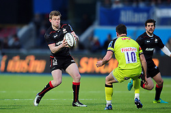 Nick Tompkins of Saracens in possession - Mandatory byline: Patrick Khachfe/JMP - 07966 386802 - 05/02/2017 - RUGBY UNION - Allianz Park - London, England - Saracens v Leicester Tigers - Anglo-Welsh Cup.