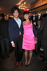 Singer MIKA and his sister ZULEIKA PENNIMAN at the launch party of 'Songs For Sorrow' hosted by Alber Elbaz and Mika held at Lanvin, 32 Savile Row, London on 11th November 2009.