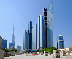 View of Central Park Towers residential and commercial property development in Dubai United Arab Emirates