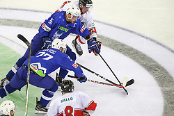 Jan Urbas of Slovenia, Bostjan Golicic of Slovenia during Ice Hockey match between National Teams of Hungary and Slovenia in Round #3 of 2018 IIHF Ice Hockey World Championship Division I Group A, on April 25, 2018 in Arena Laszla Pappa, Budapest, Hungary. Photo by David Balogh / Sportida