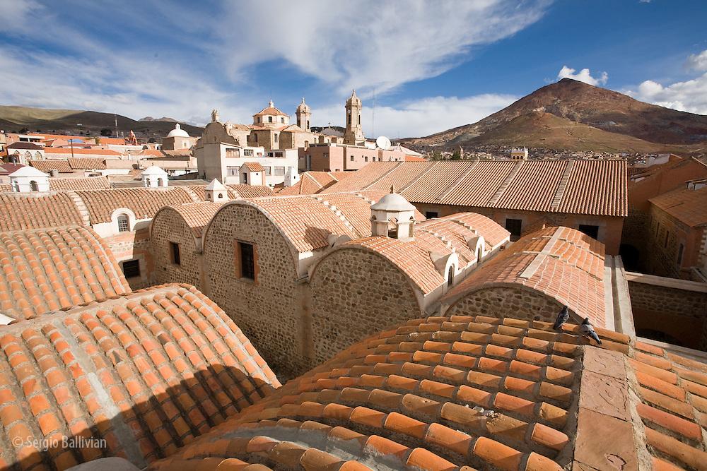 The Casa de la Moneda mint located high in the city of Potosi in the  Bolivian Andes.