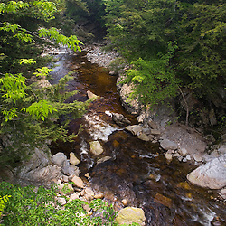 The Ashuelot River as it flows through Gilsum Gorge New Hampshire USA