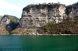 Eons of sedimentary rock, chisled by the swift currents of the Yangtze River, form much of the scenery  between Jingzhou and Chongqing.