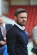 Graham Alexander manager of Scunthorpe United during the Sky Bet League 1 match between Sheffield Utd and Scunthorpe United at Bramall Lane, Sheffield, England on 8 May 2016. Photo by Ian Lyall.