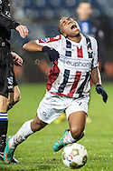 Onderwerp/Subject: Willem II - SC Heerenveen - Eredivisie<br /> Reklame:  <br /> Club/Team/Country: <br /> Seizoen/Season: 2012/2013<br /> FOTO/PHOTO: Genaro SNIJDERS of Willem II (L) is tackled by Jeffrey GOUWELEEUW (NOT ON PHOTO) of SC Heerenveen. (Photo by PICS UNITED)<br /> <br /> Trefwoorden/Keywords: <br /> #03 #04 #05 $94 ±1342781806743 ±1342781806743<br /> Photo- & Copyrights © PICS UNITED <br /> P.O. Box 7164 - 5605 BE  EINDHOVEN (THE NETHERLANDS) <br /> Phone +31 (0)40 296 28 00 <br /> Fax +31 (0) 40 248 47 43 <br /> http://www.pics-united.com <br /> e-mail : sales@pics-united.com (If you would like to raise any issues regarding any aspects of products / service of PICS UNITED) or <br /> e-mail : sales@pics-united.com   <br /> <br /> ATTENTIE: <br /> Publicatie ook bij aanbieding door derden is slechts toegestaan na verkregen toestemming van Pics United. <br /> VOLLEDIGE NAAMSVERMELDING IS VERPLICHT! (© PICS UNITED/Naam Fotograaf, zie veld 4 van de bestandsinfo 'credits') <br /> ATTENTION:  <br /> © Pics United. Reproduction/publication of this photo by any parties is only permitted after authorisation is sought and obtained from  PICS UNITED- THE NETHERLANDS