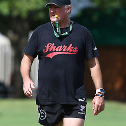 DURBAN, SOUTH AFRICA, Friday 15, January 2016 -Gary Gold (Sharks Director of Rugby) during The Cell C Sharks Pre Season training Friday 145h January 2016,for the 2016 Super Rugby Season at Growthpoint Kings Park in Durban, South Africa. (Photo by Steve Haag)<br /> images for social media must have consent from Steve Haag