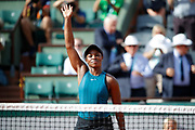 Sloane STEPHENS (USA) won the game against Madison KEYS (USA) during the Roland Garros French Tennis Open 2018, day 12, on June 7, 2018, at the Roland Garros Stadium in Paris, France - Photo Stephane Allaman / ProSportsImages / DPPI