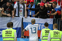 July 1, 2018 - Moscow, Russia - July 01, 2018, Russia, Moscow, FIFA World Cup 2018, the playoff round. Football match Spain - Russia at the stadium Luzhniki. Player of the national team Fedor Kudryashov; Fedor Kudryashov. (Credit Image: © Russian Look via ZUMA Wire)