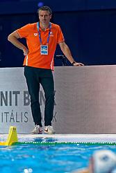 21-01-2020 HUN: European Water polo Championship, Budapest <br /> Slovakia - Netherlands 2—32 / Coach Arno Havenga during LEN European Aquatics Waterpolo on January 21, 2020. SVK vs Netherlands in Duna Arena in Budapest, Hungary