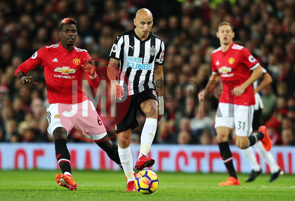 Jonjo Shelvey of Newcastle United - Mandatory by-line: Matt McNulty/JMP - 18/11/2017 - FOOTBALL - Old Trafford - Manchester, England - Manchester United v Newcastle United - Premier League