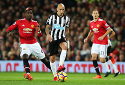 Jonjo Shelvey of Newcastle United - Mandatory by-line: Matt McNulty/JMP - 18/11/2017 - FOOTBALL - Old Trafford - Manchester, England - Manchester United v Newcastle United - Premier League