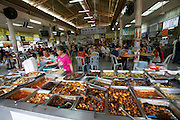 Malaysia, Kuala Lumpur. Chinatown. Chinese restaurants. A lunch buffet.