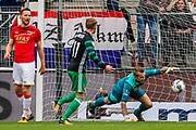 Rens van Eijden of AZ Alkmaar, Sam Larsson of Feyenoord, Marco Bizot of AZ Alkmaar