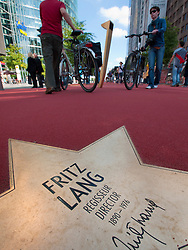Star of Fritz Lang on new Boulevard der Stars a special boulevard tribute to movie stars  at Potsdamer Platz in Berlin opened 10 September 2010