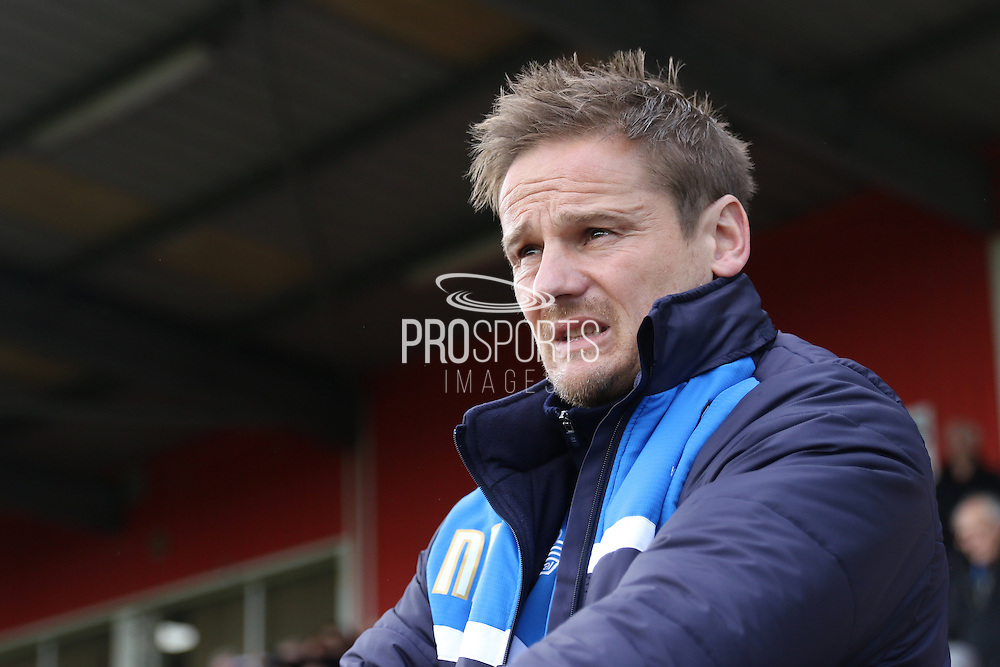 AFC Wimbledon Manager Neal Ardley prior the Sky Bet League 2 match between Stevenage and AFC Wimbledon at the Lamex Stadium, Stevenage, England on 30 April 2016. Photo by Stuart Butcher.