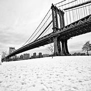 Down Under the Manhattan Bridge Overpass, Brooklyn, NYC
