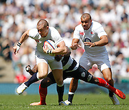 Picture by Andrew Tobin/Tobinators Ltd +44 7710 761829.26/05/2013.Mike Brown of England in action during the match between England and the Barbarians at Twickenham Stadium, Twickenham.