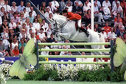 Withaker John (GBR) - Milton<br /> World Equestrian Games Stockholm 1990<br /> Photo © Hippo Foto