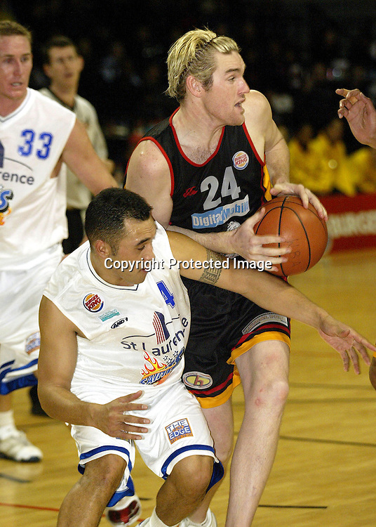 12 June 2003, Event Centre Wellington, National Basketball League, Wellington Saints vs Waikato Titans <br />