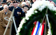 4-5-2014 AMSTERDAM - Queen Maxima and King Willem-Alexander at the wearth laying ceremony (Dodenherdenking) at the WWII memorial at the monument op de Dam in Amsterdam. Koning Willem-Alexander en Koningin Máxima zijn zondagavond 4 mei aanwezig bij de Nationale Herdenking in Amsterdam .COPYRIGHT ROBIN UTRECHT