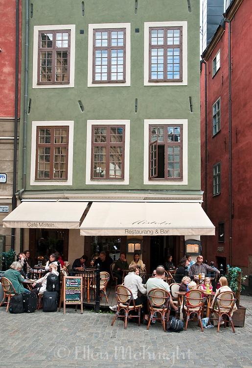 Outdoor Cafe in Gamla Stan, Stockholm, Sweden