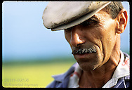 Portrait of Manoel Luiz Soares de Paiva, sharecropper on rice farm; Pelotas, Rio Grande do Sul Brazil