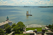 View of New York Harbor and Robert F Wagner Jr Park from 10 West Street, 15th floor