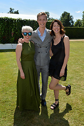 Daisy Lewis, the Hon.William Gordon-Lennox, Margo Stilley at the Cartier Style et Luxe at the Goodwood Festival of Speed, Goodwood, West Sussex, England. 2 July 2017.<br /> Photo by Dominic O'Neill/SilverHub 0203 174 1069 sales@silverhubmedia.com