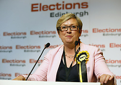 SNP candidate for Edinburgh South West Joanna Cherry celebrates retaining her seat at Meadowbank Sports Centre in Edinburgh.
