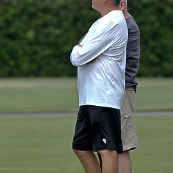 June 5, 2012; Metairie, LA, USA; New Orleans Saints general manager Mickey Loomis during a minicamp session at the team's practice facility. Mandatory Credit: Derick E. Hingle-US PRESSWIRE