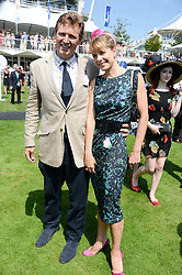 DARCEY BUSSELL and her husband ANGUS FORBES at the 3rd day of the 2013 Glorious Goodwood racing festival - Ladies day at Goodwood Racecourse, West Sussex on 1st August 2013.