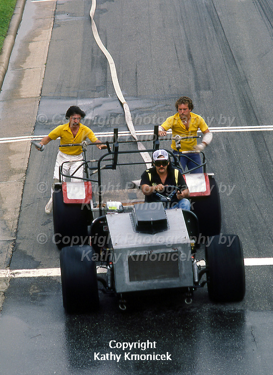 The North Bellmore Fire Department Rinky Dinks Racing Team in action in July of 1982.