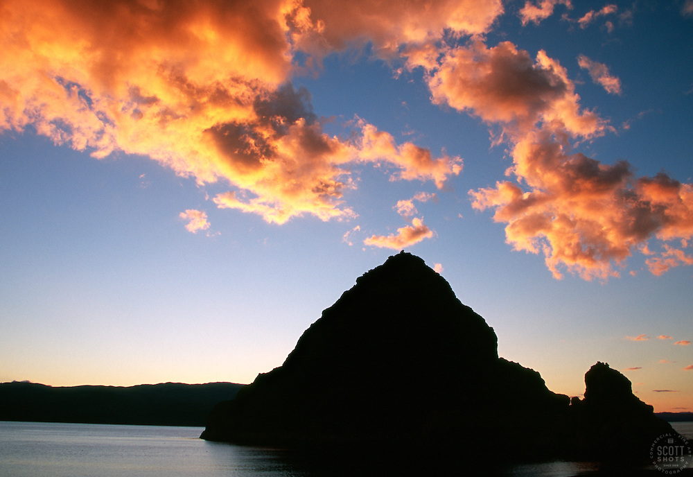&quot;Sunset at Pyramid Lake, Nevada 2&quot;- This sunset was photographed at Pyramid Rock, on the East shore of Pyramid Lake, Nevada.<br /> Photographed: September 2007
