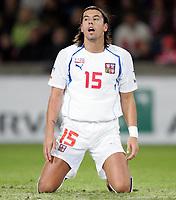 Fotball<br /> Play off VM 2006<br /> 12.11.2005<br /> Norge v Tsjekkia / Norway v Czech Republic 0-1<br /> Foto: Morten Olsen, Digitalsport<br /> <br /> Milan Baros - Aston Villa