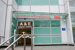 University College Hospital Accident and Emergency entrance, Marylebone Road, London
